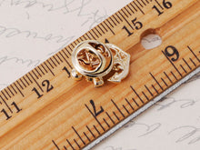 Load image into Gallery viewer, White Accented Anchor Pin Brooch