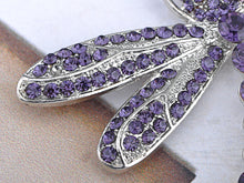 Load image into Gallery viewer, Captivating Amethyst Dragonfly Jewelry Pin Brooch