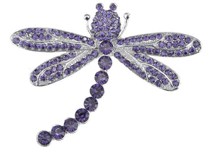 Captivating Amethyst Dragonfly Jewelry Pin Brooch