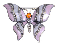 Load image into Gallery viewer, Rose Pink Pastel Enamel Butterfly Pin Brooch