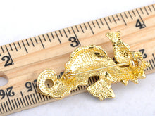 Load image into Gallery viewer, Finish Brown Enamel Sea Horse Fish Pin Brooch