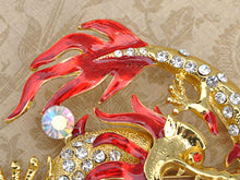 Load image into Gallery viewer, Pearl Fire Zodiac Dragon Brooch Pin