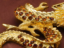 Load image into Gallery viewer, Antique Topaz Dragon Monster Brooch Pin