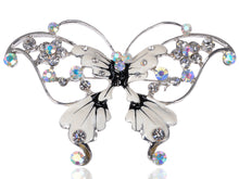 Load image into Gallery viewer, Enamel Wing Aurora Borealis Butterfly Pin Brooch