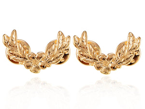 2 Pcs Flower With Leaves Pin Brooch