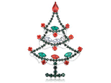 Load image into Gallery viewer, Dazzling Christmas Tree Holiday Jewelry Pin Brooch
