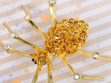 Load image into Gallery viewer, Topaz Spider Bug Pin Brooch