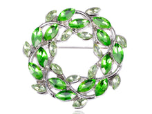 Load image into Gallery viewer, Green Fresh Spring Leaves Pin Brooch