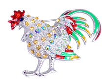 Load image into Gallery viewer, Multi Colored Chicken Rooster Hen Brooch Pin