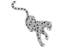 Load image into Gallery viewer, Unisex Black Funny Panther Leopard Cat Animal Lapel Brooch Pin