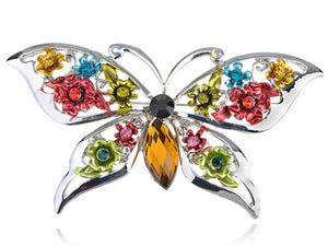 Extremely Colored Multi Color Butterfly Pin Brooch