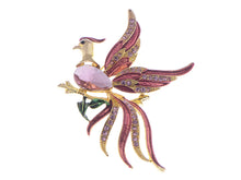 Load image into Gallery viewer, Rone Shine Pink Enamel Stunning Phoenix Flying Bird Brooch Pin