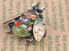 Load image into Gallery viewer, Gun Multi Colorful Fly Insect Bug Brooch Pin