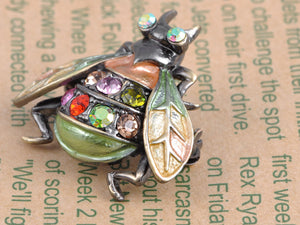 Gun Multi Colorful Fly Insect Bug Brooch Pin