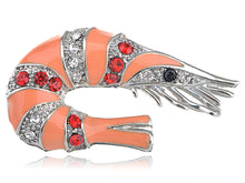 Load image into Gallery viewer, Multi Color Peach Shrimp Crawfish Brooch Pin