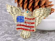 Load image into Gallery viewer, Patriotic American Eagle Usa Flag Brooch Pin