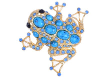Load image into Gallery viewer, Sapphire & Bead Embedded Frog Toad Jewelry Pin Brooch