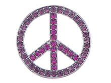 Load image into Gallery viewer, Vintage Shine Purple Pink Hippie Peace Sign Brooch Pin Pendent