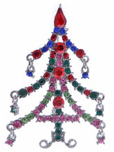 Load image into Gallery viewer, Magnificent Merry Christmas Tree Holiday Season Pin Brooch