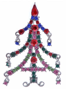 Magnificent Merry Christmas Tree Holiday Season Pin Brooch