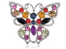 Load image into Gallery viewer, Vivid Ruby Green Black Colorful Butterfly Pin Brooch