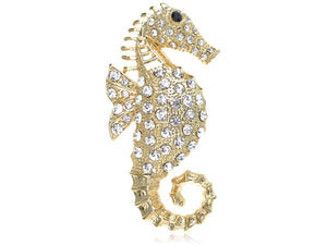 Seahorse Sea Creature Brooch Pin Jewelry