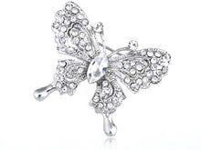 Load image into Gallery viewer, Glass Bead Butterfly Brooch Pin