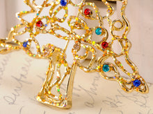 Load image into Gallery viewer, Christmas Joy Frost Lit Tree Ornament Pin Brooch