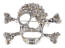 Load image into Gallery viewer, Shine Scary Skull Bone Head Brooch Pin