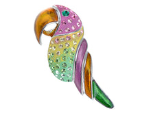 Load image into Gallery viewer, Beaked Parakeet Budgie Colorful Tropical Pin Brooch