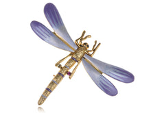 Load image into Gallery viewer, Tiny Dragonfly Lavender Gradient Enamel Pin Brooch