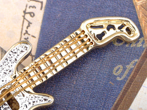 Colored Electric Guitar Brooch Pin