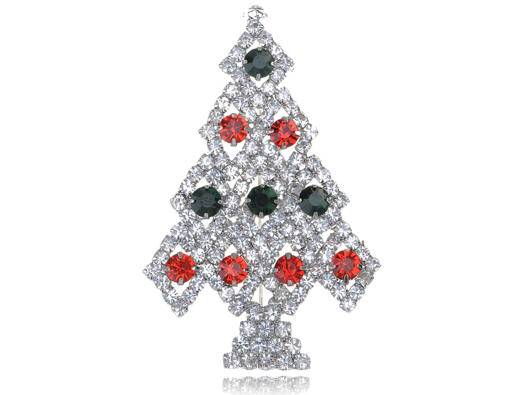 Reproduced Holiday Christmas Tree Pin Brooch
