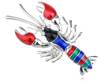 Load image into Gallery viewer, Rainbow Sea Lobster Baby Se Creature Able Jewellry Pin Brooch