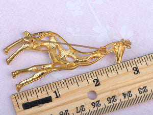 Yellow Animal Giraffe Spotted Texture Brooch Pin