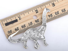 Load image into Gallery viewer, Brontosaurus Dinosaur Dino Critter Brooch Pin
