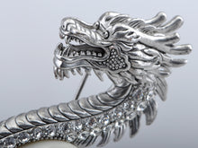 Load image into Gallery viewer, Antique Frosted Zodiac Chinese Dragon Brooch Pin