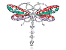 Load image into Gallery viewer, Glitzy Color Enamel Body Ab Dragonfly Bug Fly Brooch Pin