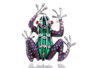 Unique Ruby Eyed Frog Prince Insect Animal Pin Brooch