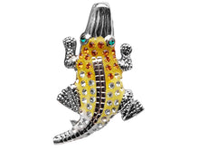 Load image into Gallery viewer, Topaz Crocodile Alligator Able Pin Brooch