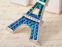 Load image into Gallery viewer, Yellow Green Blue Paris Eiffel Tower Brooch Pin