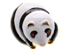 Load image into Gallery viewer, Red Eyed Black White Giant Panda Bear Brooch Pin