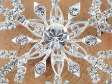Load image into Gallery viewer, Winter Festive Snowflake Brooch Pin