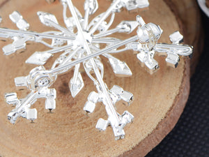 Winter Festive Snowflake Brooch Pin