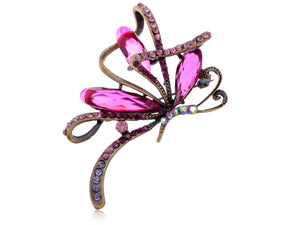 Ribbon Amethyst Purple Abstract Butterfly Able Pendant Brooch Pin
