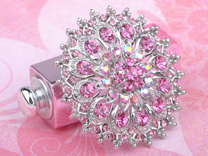 Pink Rose Royal Princess Crest Floral Wreath Bouquet Wedding Brooch Pin