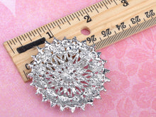 Load image into Gallery viewer, Shine Flower Snowflake Floral Wreath Wedding Brooch Pin