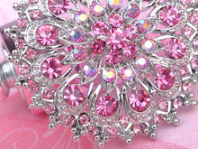 Load image into Gallery viewer, Pink Rose Royal Princess Crest Floral Wreath Bouquet Wedding Brooch Pin
