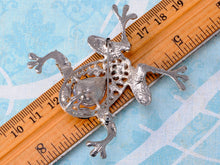 Load image into Gallery viewer, Precious Princess Black Leaping Frog Pet Brooch Pin