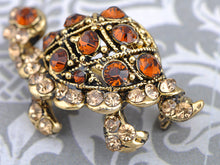 Load image into Gallery viewer, Topaz Brown Turtle Tortoise Reptile Pin Brooch